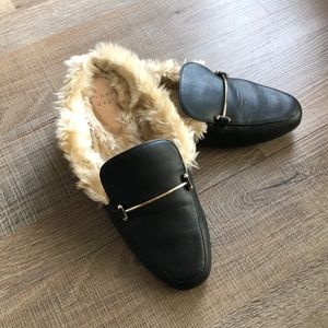 Mules with fur